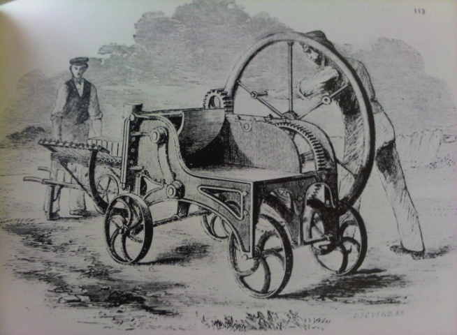 Man powererd Bulmer and Sharp Wirecut 500 bricks per hour 1861