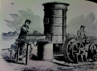 Steam powererd Bulmer and Sharp Wirecut 2,500 bricks per hour also 1861