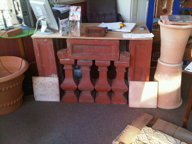 Terracotta Balustrading desk in The Clay Clay Shop