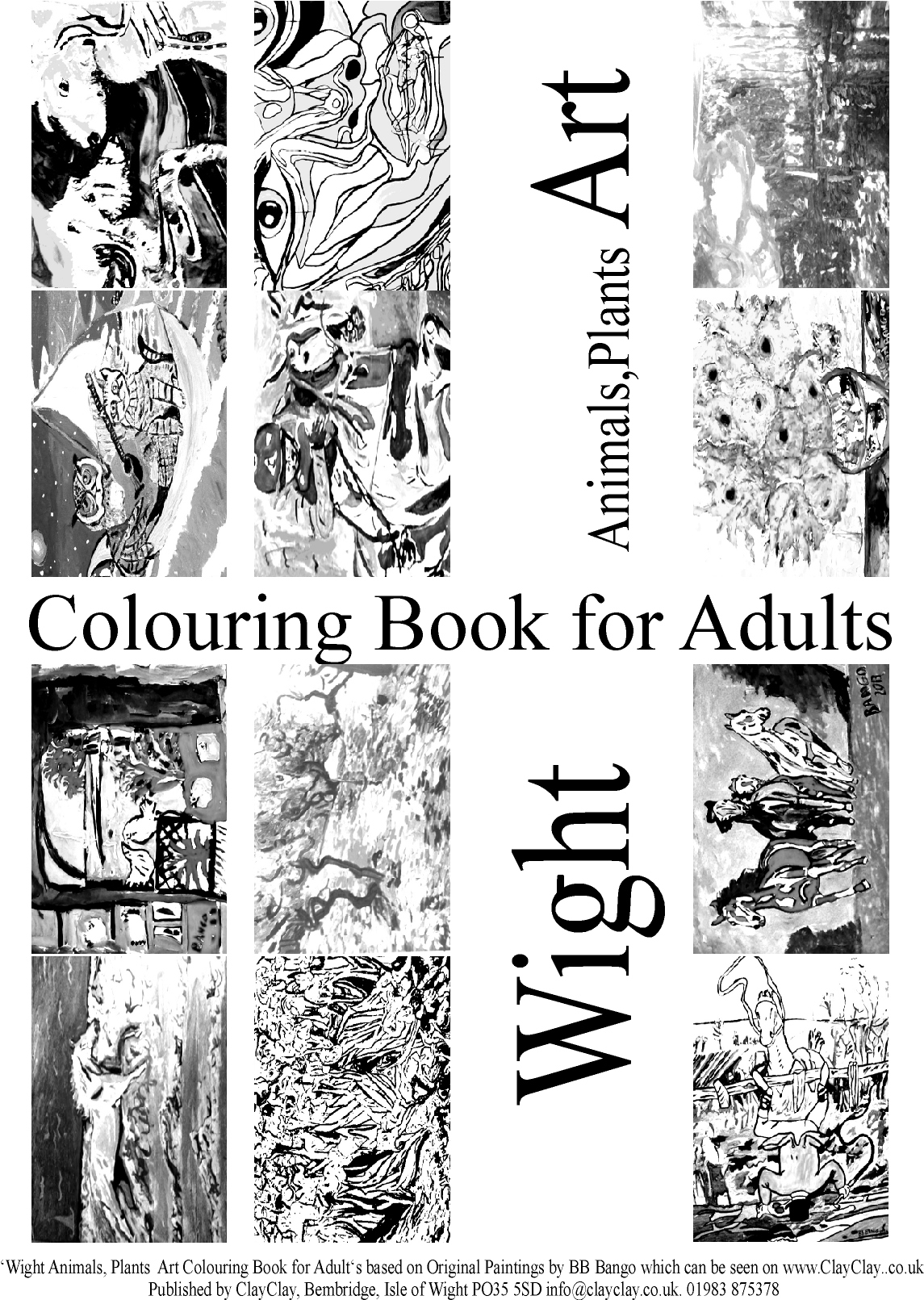 Animals and Plants. 'Coloring (colouring) books for Adults' 12 paintings per book various themes. Use your own crayons, pastels, fibre tipped pens, ink, watercolour, acrylic or oil paints. £5 per book plus £2.50 postage and packing. E mail us your requirements