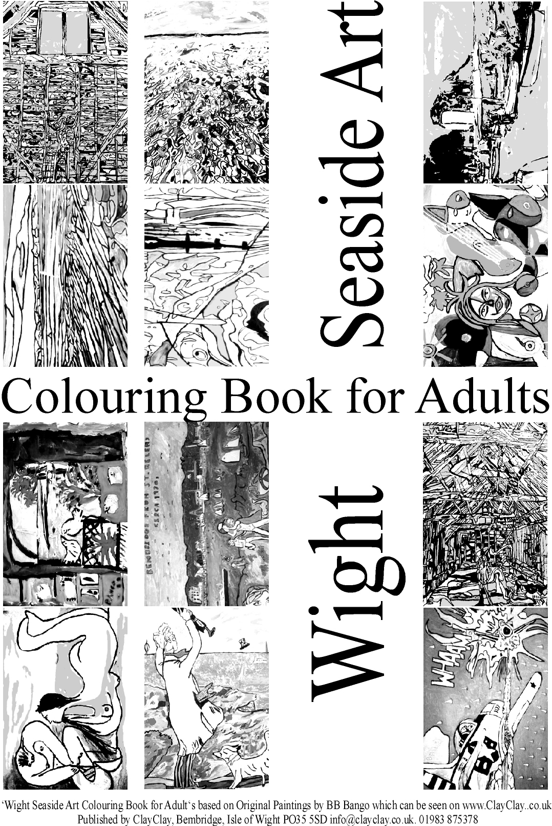 Seaside. 'Coloring (colouring) books for Adults' 12 paintings per book various themes. Use your own crayons, pastels, fibre tipped pens, ink, watercolour, acrylic or oil paints. £5 per book plus £2.50 postage and packing. E mail us your requirements
