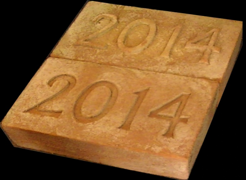 2014 Date Brick. Indented numbering and out dented numbering