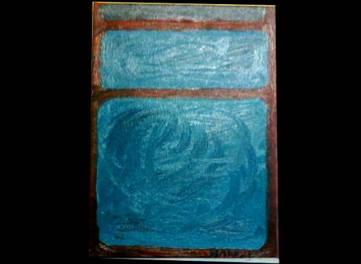 Acrylic on Canvas Turquoise Rothko inspired 420*290 £25