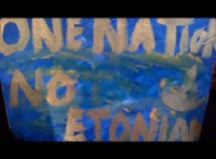 One Nation as put out by British Labour Party is an anagram of No Etonian. Acrylic on 200*300mm tile £15