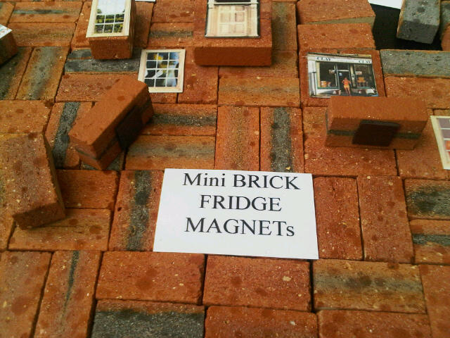 Clay Clay Miniature brick fridge magnets