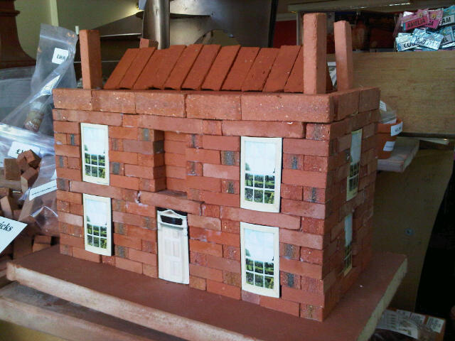 Large Georgian House Clay Clay Brick Building Kit.