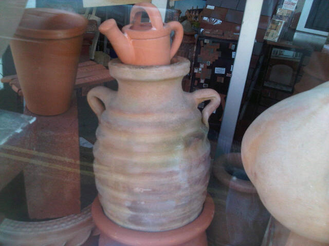 Terracotta Urn and Plant Feeder