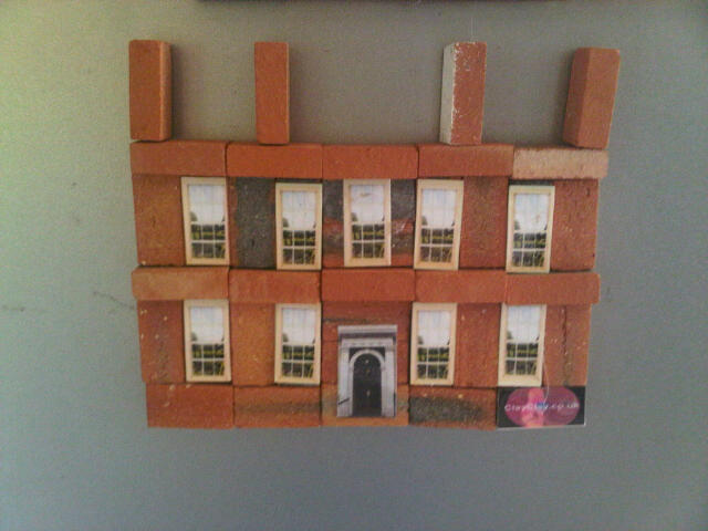 Clay Clay Miniature Brick Fridge Magnet kit. Georgian House