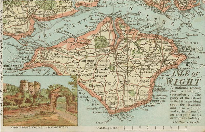 'Isle of Wight Map