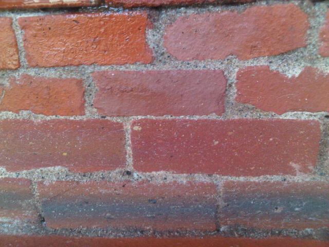 Mortared in Mini and Maxi bricks  using powdered mortar