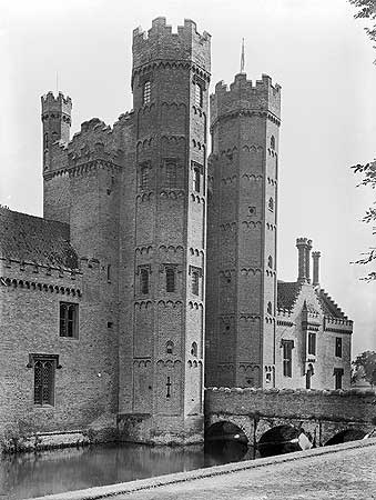 The ornately decorated gatehouse at Oxburgh Hall, dating from 1482, is one of many examples of the potential offered by brick as a building material.