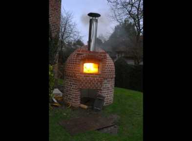 Pizza Oven made from tapered York Handmade bricks in Wilts. for further details, please contact ClayClay