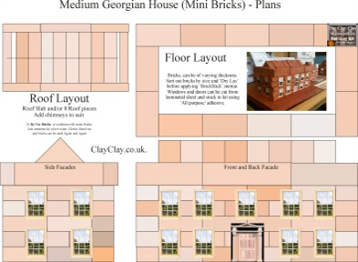 Medium Georgian House. Plans