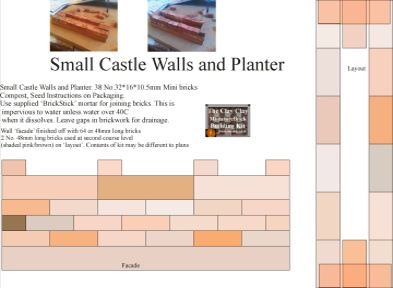 Small Castle Walls Planter Kit Plans