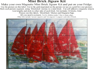 Mini Brick Jigsaws. from £6.99 each