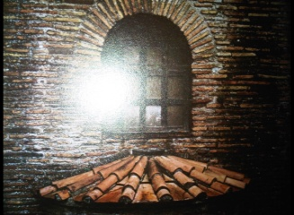 5th Century Roman brickwork at Ravenna, Italy
