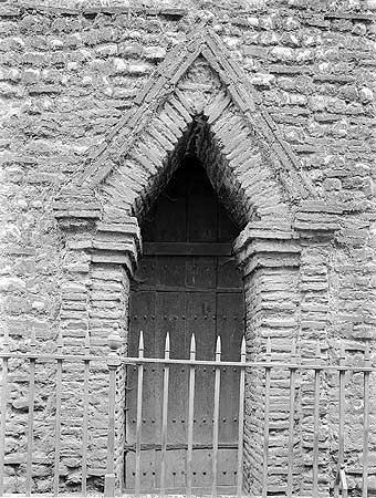 The Romans introduced brick to Britain, but it ceased to be made when they left. Roman brick was, however, reused in numbers of late Saxon buildings, such as the west doorway of Holy Trinity church, Colchester, which had been a major Roman town.