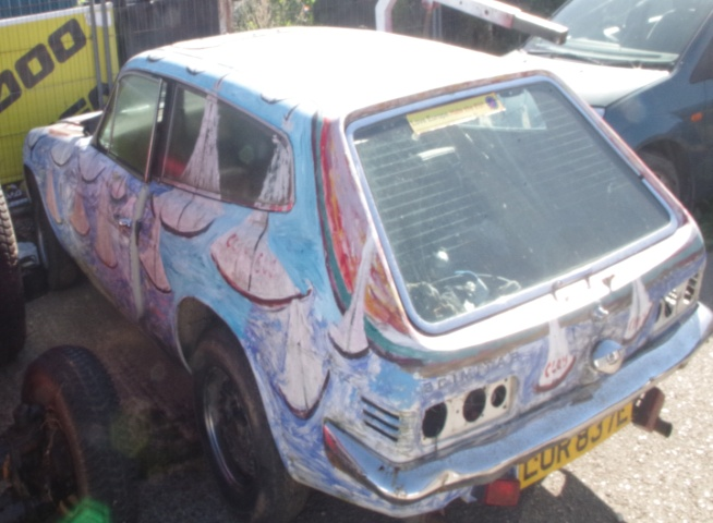 Reliant Scimitar GTE 1972. Tax exempt. Done 20 miles since last MOT 3 years ago. Extensive history. Needs a lot of tidying up but runs and should get an easy MOT. Needs new interior and possibly ??? respray. Was the original Bango Art Car. £550