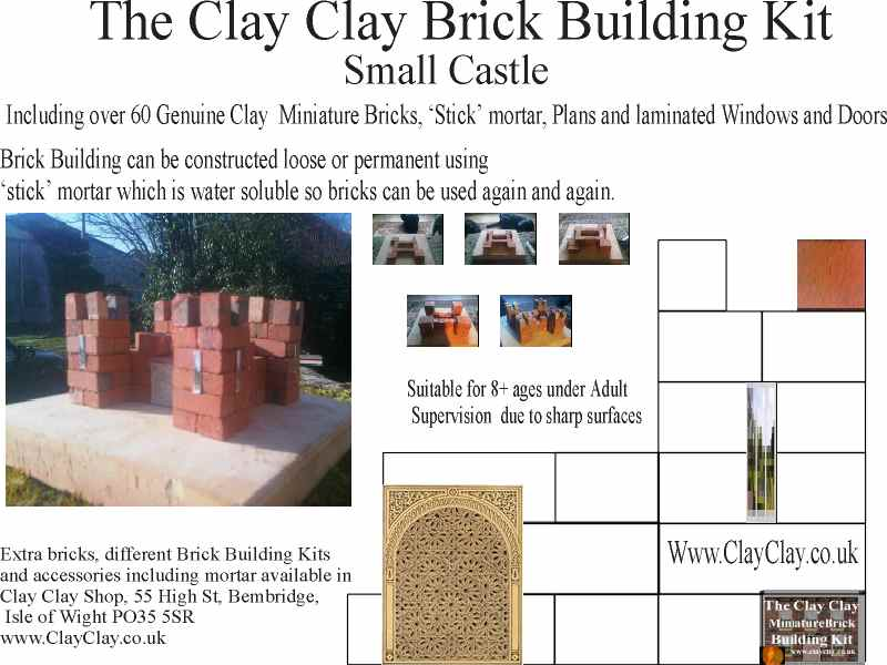 Small Castle Clay Clay Brick Building Kit.