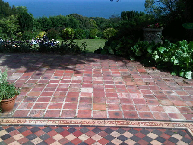 Terracotta 20*20cm in Bonchurch, Isle of Wight. tiles not guaranteed for use outside.