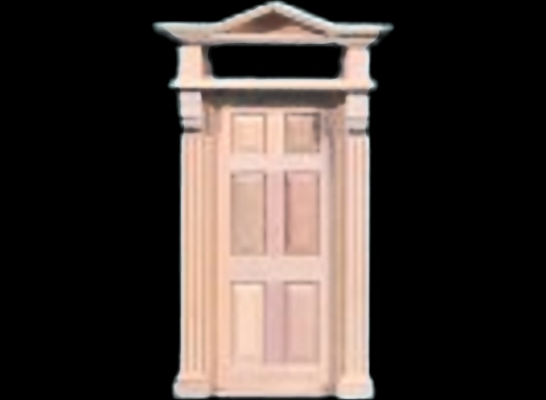 Styles of printable door for Isle of Wight made miniature clay brick kits.