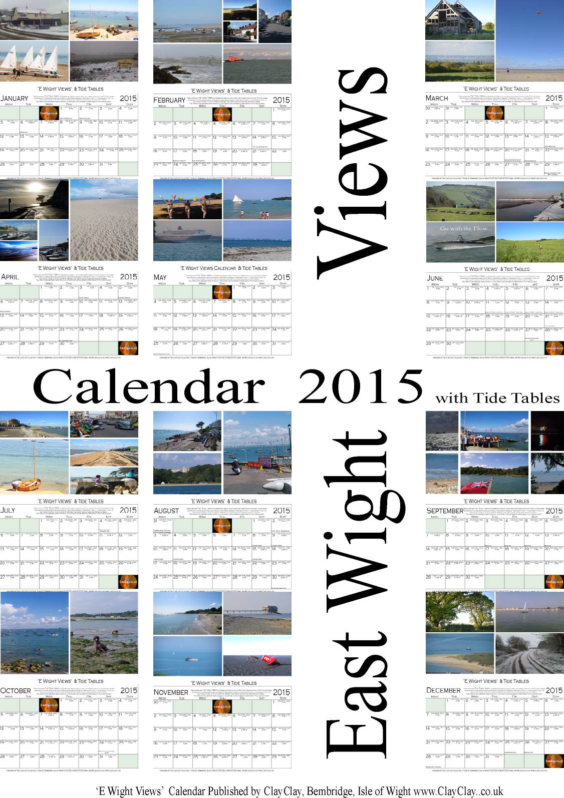 '12 Month Calendar Wight Views 2015 One Month per page. this is the cover sheet. £8.00 plus postage £2.50