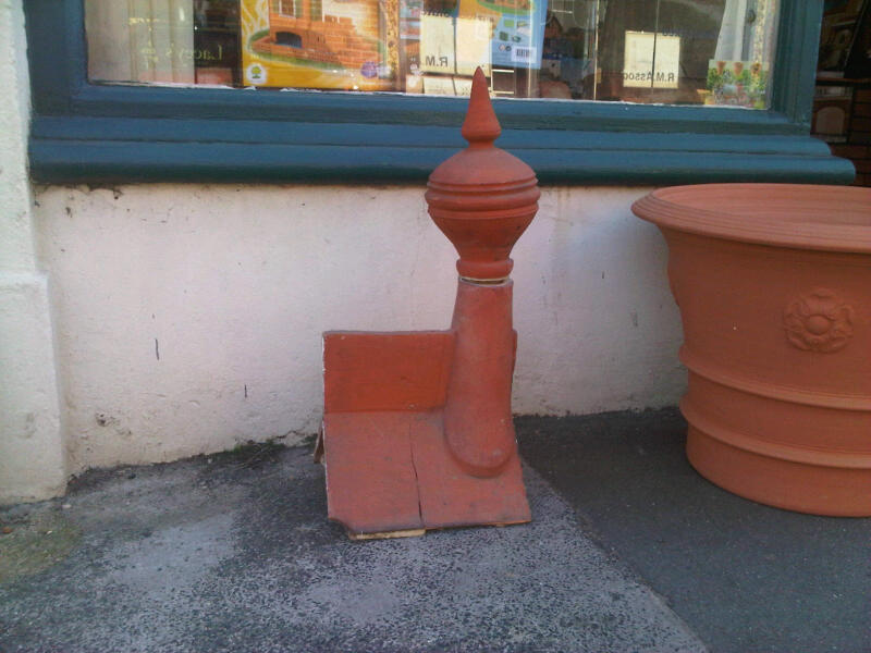 0,7m High Clay Finials from Acer Reclamation, Ryde. £150